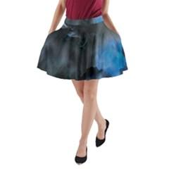 Space Star Blue Sky A Line Pocket Skirt