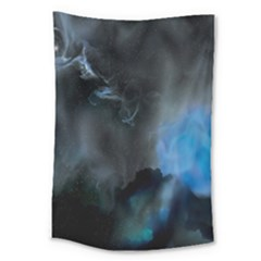 Space Star Blue Sky Large Tapestry