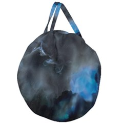 Space Star Blue Sky Giant Round Zipper Tote