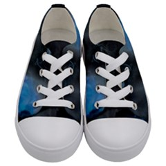 Space Star Blue Sky Kids  Low Top Canvas Sneakers
