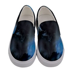 Space Star Blue Sky Women s Canvas Slip Ons