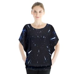 Space Warp Speed Hyperspace Through Starfield Nebula Space Star Line Light Hole Blouse