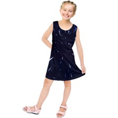 Space Warp Speed Hyperspace Through Starfield Nebula Space Star Line Light Hole Kids  Tunic Dress