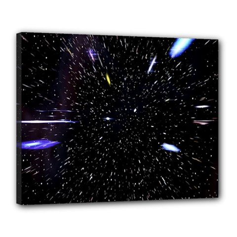 Space Warp Speed Hyperspace Through Starfield Nebula Space Star Hole Galaxy Canvas 20  X 16