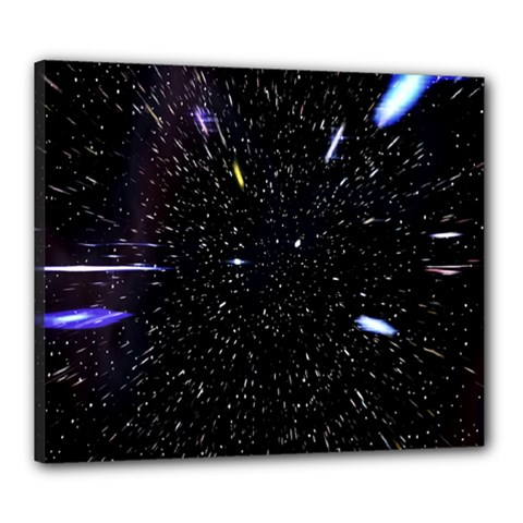 Space Warp Speed Hyperspace Through Starfield Nebula Space Star Hole Galaxy Canvas 24  X 20