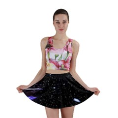 Space Warp Speed Hyperspace Through Starfield Nebula Space Star Hole Galaxy Mini Skirt