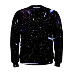 Space Warp Speed Hyperspace Through Starfield Nebula Space Star Hole Galaxy Men s Sweatshirt