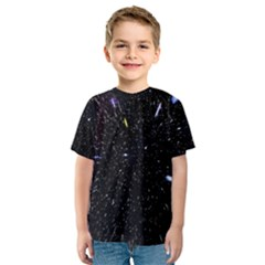 Space Warp Speed Hyperspace Through Starfield Nebula Space Star Hole Galaxy Kids  Sport Mesh Tee