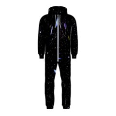 Space Warp Speed Hyperspace Through Starfield Nebula Space Star Hole Galaxy Hooded Jumpsuit (kids)