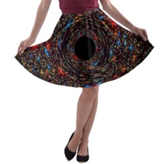 Space Star Light Black Hole A Line Skater Skirt