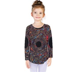 Space Star Light Black Hole Kids  Long Sleeve Tee