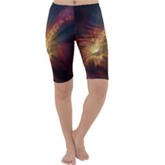 Sun Light Galaxy Cropped Leggings