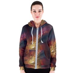 Sun Light Galaxy Women s Zipper Hoodie