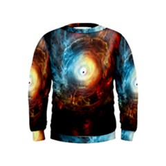 Supermassive Black Hole Galaxy Is Hidden Behind Worldwide Network Kids  Sweatshirt