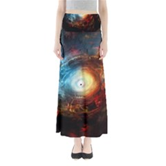 Supermassive Black Hole Galaxy Is Hidden Behind Worldwide Network Full Length Maxi Skirt