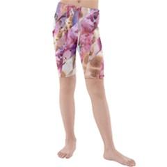 Stone Spot Triangle Kids  Mid Length Swim Shorts