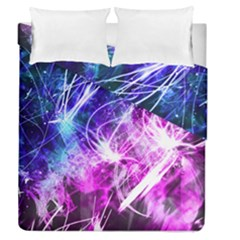 Space Galaxy Purple Blue Duvet Cover Double Side (queen Size)