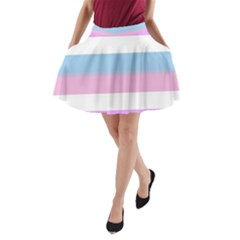 Big Stripes A Line Pocket Skirt