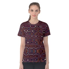 Hippy Boho Chestnut Warped Pattern Women s Cotton Tee