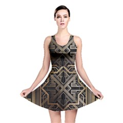 Art Nouveau Reversible Skater Dress