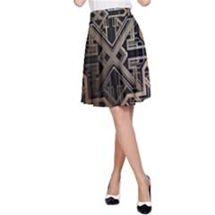 Art Nouveau A Line Skirt
