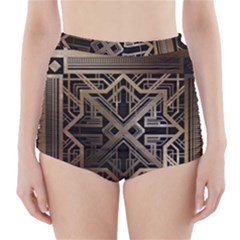 Art Nouveau High Waisted Bikini Bottoms