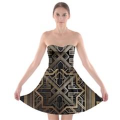 Art Nouveau Strapless Bra Top Dress