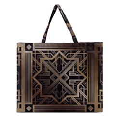 Art Nouveau Zipper Large Tote Bag
