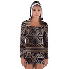 Art Nouveau Long Sleeve Hooded T Shirt