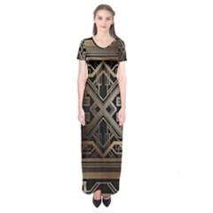 Art Nouveau Short Sleeve Maxi Dress