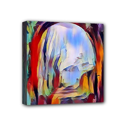 Abstract Tunnel Mini Canvas 4  X 4