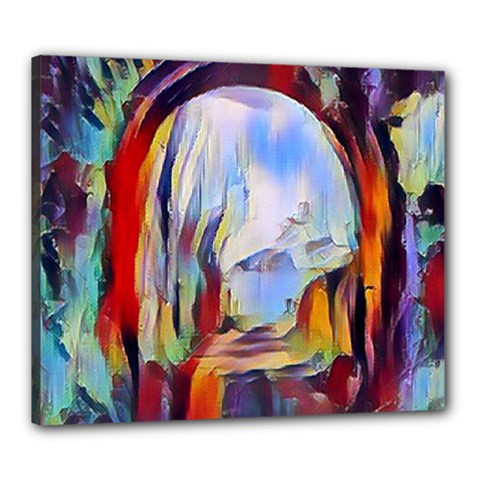 Abstract Tunnel Canvas 24  X 20