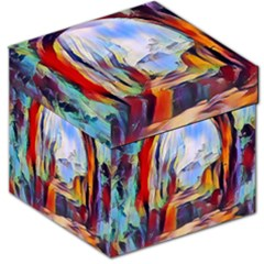 Abstract Tunnel Storage Stool 12