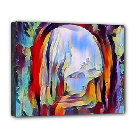 Abstract Tunnel Deluxe Canvas 20  X 16