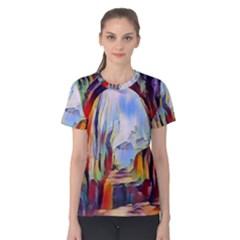 Abstract Tunnel Women s Cotton Tee