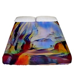 Abstract Tunnel Fitted Sheet (king Size)