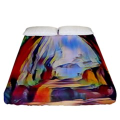 Abstract Tunnel Fitted Sheet (california King Size)
