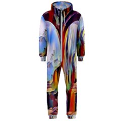 Abstract Tunnel Hooded Jumpsuit (men)