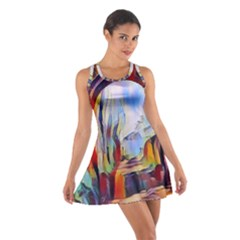 Abstract Tunnel Cotton Racerback Dress