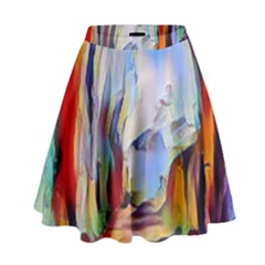 Abstract Tunnel High Waist Skirt