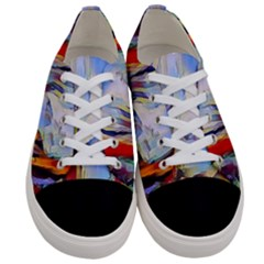 Abstract Tunnel Women s Low Top Canvas Sneakers