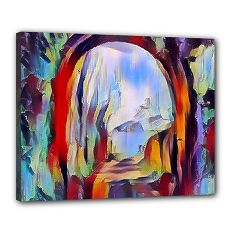 Abstract Tunnel Canvas 20  X 16