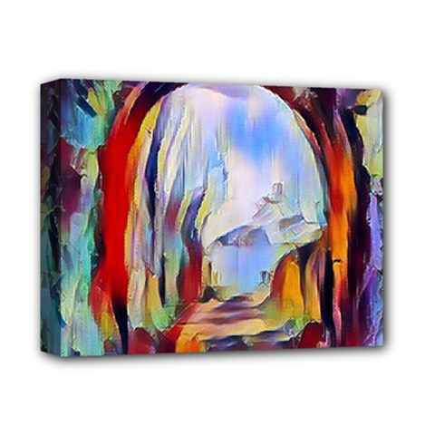 Abstract Tunnel Deluxe Canvas 14  X 11