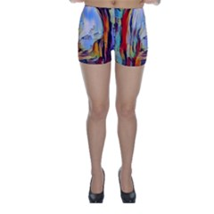 Abstract Tunnel Skinny Shorts