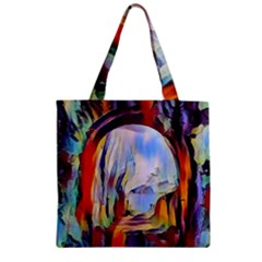 Abstract Tunnel Zipper Grocery Tote Bag