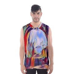 Abstract Tunnel Men s Basketball Tank Top