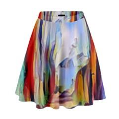 Abstract Tunnel High Waist Skirt