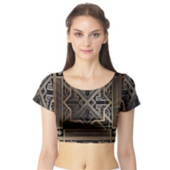 Art Nouveau Short Sleeve Crop Top