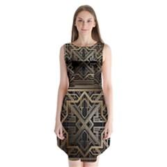 Art Nouveau Sleeveless Chiffon Dress