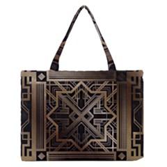 Art Nouveau Zipper Medium Tote Bag
